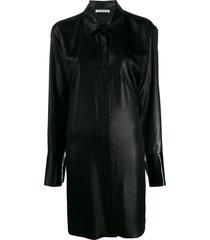 alexanderwang.t oversized shirt dress - black