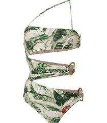 adriana degreas x cult gaia printed swimsuit - green