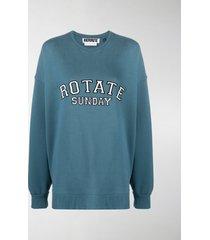 rotate iris embroidered logo sweatshirt