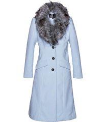 cappotto con collo in ecopelliccia (viola) - bpc selection