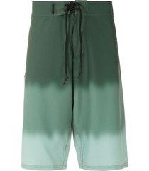 track & field surf ultramax tie-dye swim shorts - green