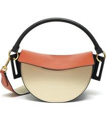 'dip' top handle thick strap leather shoulder bag