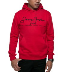 sean john men's regular-fit script logo hoodie