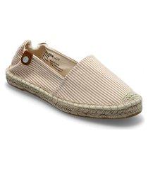 woms slip-on sandaletter expadrilles låga beige tamaris