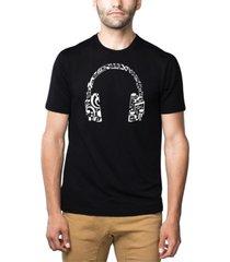 men's premium blend word art music note headphones t-shirt