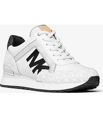 mk sneaker maddy bicolore con logo - bright wht - michael kors