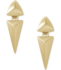 kendra scott 14k gold-plated triangular small statement earrings
