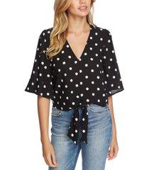1.state polka-dot flounce-sleeve top