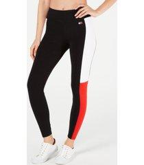 tommy hilfiger sport colorblocked full length leggings