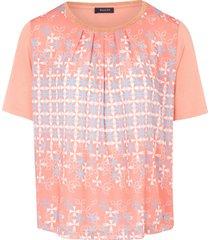 shirt met ronde hals en korte mouwen van basler multicolour