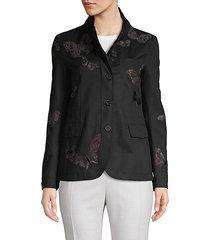 butterfly cotton-blend jacket