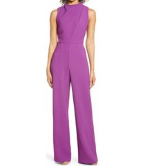black halo corrine draped bodice wide leg jumpsuit, size 2 in hyacinth at nordstrom