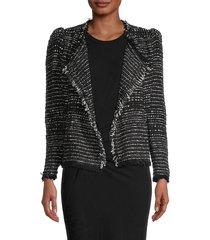 iro women's diana tweed jacket - black - size 34 (2)