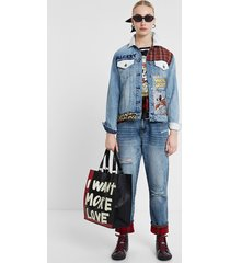 mickey jean jacket - blue - s