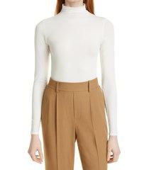 women's vince mock neck bodysuit, size small - ivory