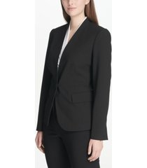dkny petite single-button blazer, created for macy's