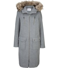 cappotto in simil lana con cappuccio (grigio) - bpc bonprix collection