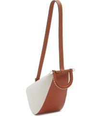 jw anderson two-tone wedge shoulder bag - neutrals