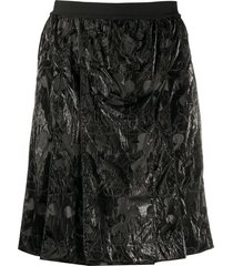 takahiromiyashita the soloist high-waist textured shorts - black