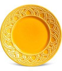 conjunto 6pã§s pratos de sobremesa porto brasil cestino amarelo - amarelo - dafiti