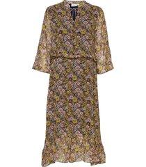 u6008, woven dress below knee jurk knielengte multi/patroon saint tropez