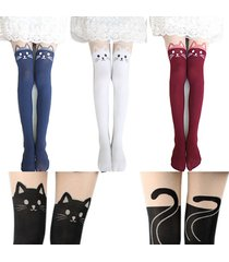 women's pantyhose, 4 colors cat and tail tights