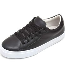 tãªnis sapatãªnis casual em couro jna shoes - preto - feminino - dafiti