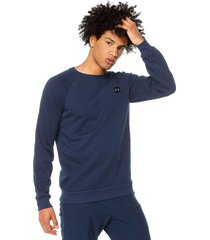 buzo azul under armour rival freece crew