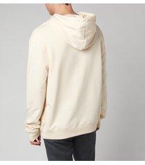 lanvin men's carpeted hoodie - ecru - l