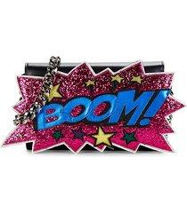 dolce & gabbana women's boom leather shoulder bag - pink multi