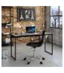 mesa de escritório studio preta 135 cm