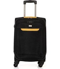maleta de viaje pequeña en lona con cuatro ruedas giratorias 94121