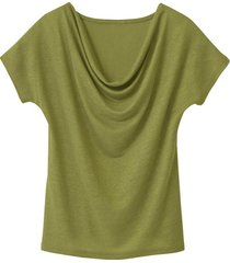 shirt met watervalhals, avocado 36