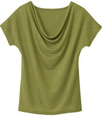shirt met watervalhals, avocado 34