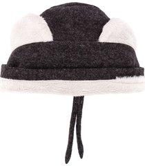 violeta e federico faux-fur bear ears hat - grey
