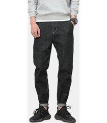 jeans sottili casuali allentati per gli uomini