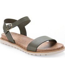 sun + stone mattie flat sandals, created for macy's women's shoes