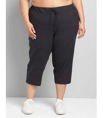 lane bryant women's livi stretch trouser capri 38/40 black