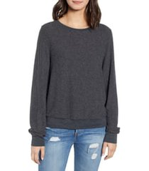 women's wildfox baggy beach jumper pullover, size small - black