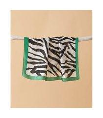 lenço estampado - lenço goiás cor: verde - tamanho: único