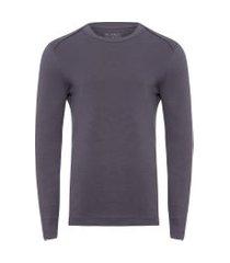 t-shirt masculina gola redonda - cinza