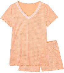 pigiama estivo in cotone biologico (arancione) - bpc bonprix collection