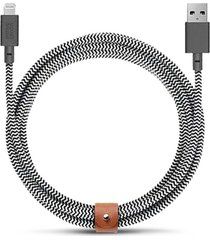 belt extra long lightning charging cable - zebra