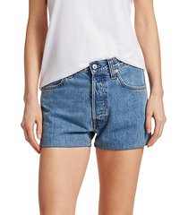 masc high-rise denim shorts