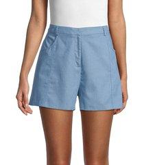bcbgmaxazria women's high-waist chambray shorts - chambray - size 6
