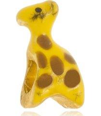berloque boca santa semijoias girafa ouro amarelo