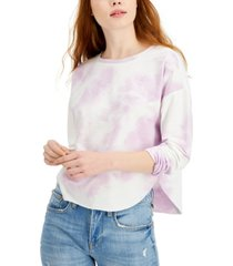 almost famous juniors' tie-dyed top