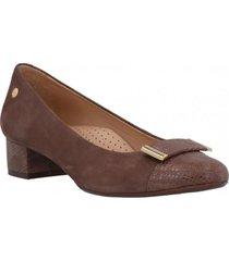 zapato mujer cuero commited gris