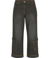 jeans cargo a pinocchietto con cinta comoda (nero) - bpc bonprix collection