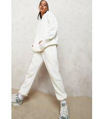 basic oversized hoodie, ecru
